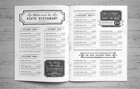 effective menu design and layout for restaurants 40 effective psd restaurant menu design templates web