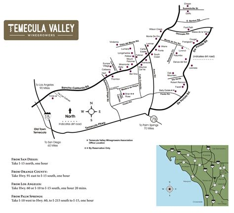 map of temecula temecula valley winegrowers association winery map