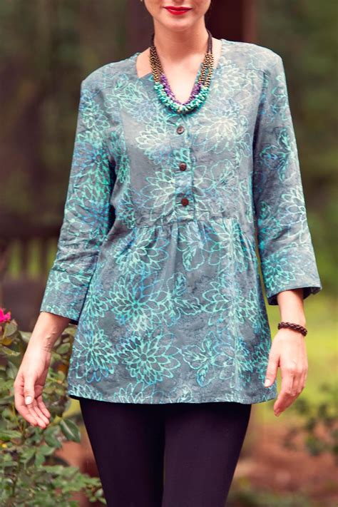 Batik Top blue batik top from florida by go fish clothing jewelry