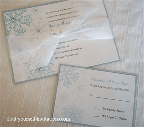 diy snowflake wedding invitations
