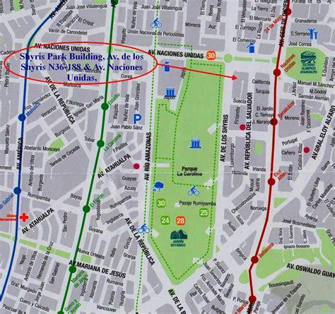 printable map quito carte ville quito