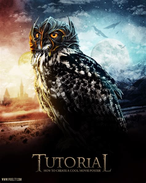 tutorial photoshop poster 40 creative owl logo icon and illustration designs