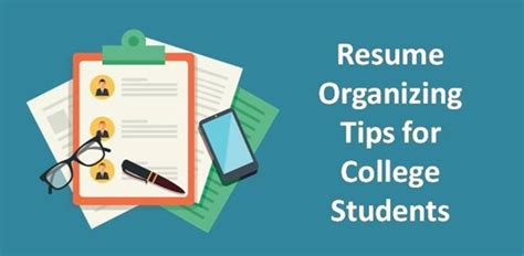 Resume Tips For College Students by Resume Organizing Tips For College Students College