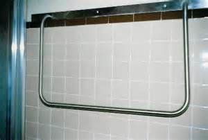 how to install grab bars in fiberglass shower brushed