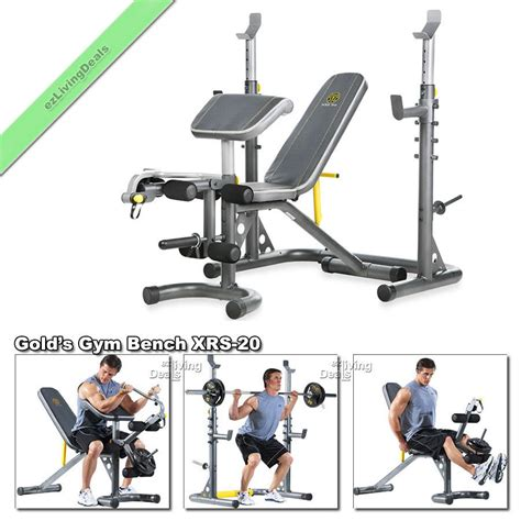 gold s gym olympic weight bench gold gym bench with rack xrs 20 olympic workout adjustable