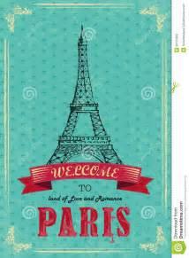 Paris Backdrop Torre Eiffel Para El Cartel Retro Del Viaje Fotos De Archivo Imagen 33124353