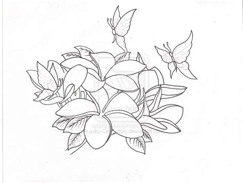 plumeria tattoo coloring pages