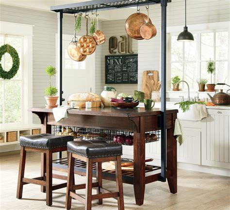 kitchen island hanging pot racks beautiful kitchen islands with bench seating designing idea