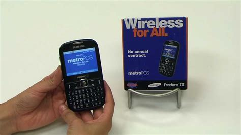 Metro Pcs Cell Phone Number Lookup Metro Pcs Samsung Freeform Iii 3 Phone 6 Features In 60 Seconds