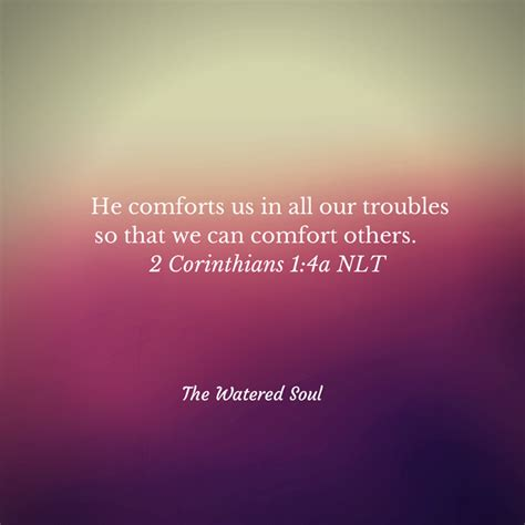 comfort of god through the trouble