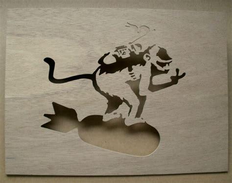 monkey bomb tattoo monkey bomb wooden stencil banksy b u t