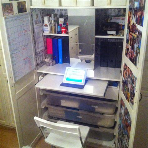 ikea dressing table hack ikea hack dressing table desk inside pax wardrobe do you not a lot of space in your