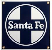 Country Trains PSSFEZ Santa Fe Logo Porcelain Sign