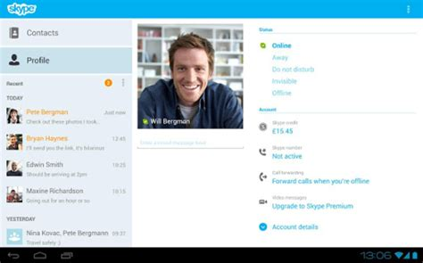 skype for android tablet skype android