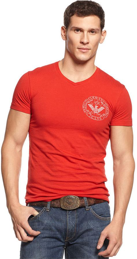 Tshirt Kaos Longsleeve Ck armani slim fit v neck logo t shirt where to buy