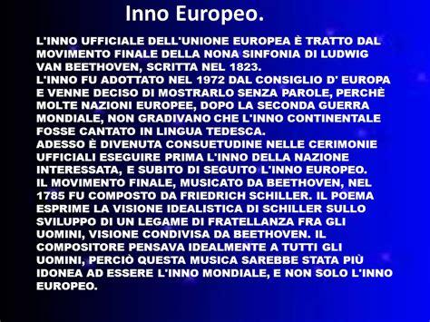 l inno alla gioia testo inno europeo testo italiano 28 images l inno alla