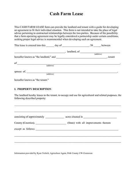 farm land lease agreement template land lease agreement form free offer template word