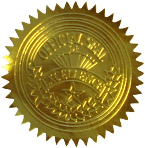 official seal of excellence certificate seals geographics