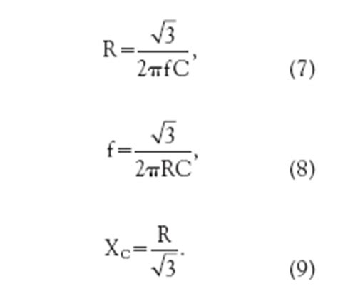 resistor capacitor frequency formula circuit measures capacitance or inductance equation 7 9