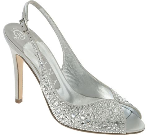 silver bridal shoes look wedding shoes