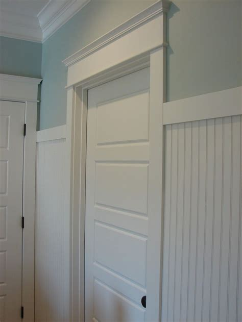 horizontal panel doors, beadboard with simple shaker type