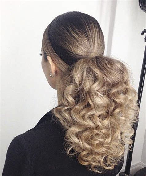 ponytail hairstyles for curly hair latest long curly ponytail hairstyles 2017 dinga poonga