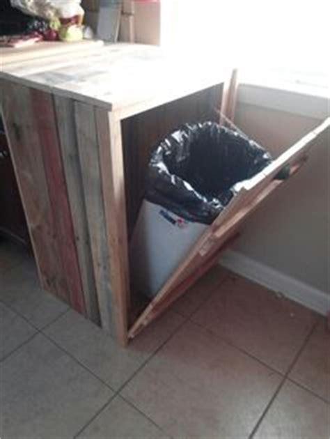 diy pallet trash can cabinet 1000 images about pallet trash can holder on