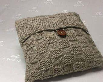 cuscini maglia cuscino arredamento decorativo colore grigio fatto a mano