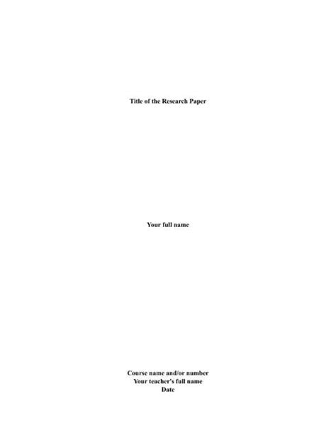 apa style cover page for research paper 10 best images of cover page for research paper research