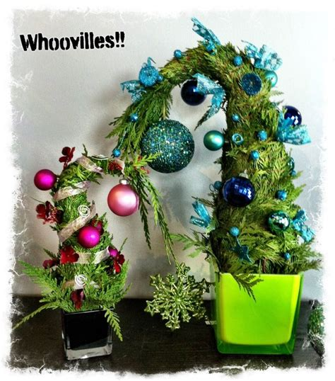 dr seuss whoville board welcome whimsical whoville trees winter decor