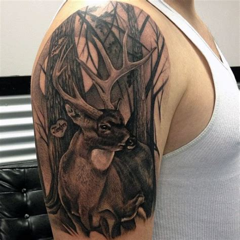 cool upper arm tattoos 90 deer tattoos for manly outdoor designs