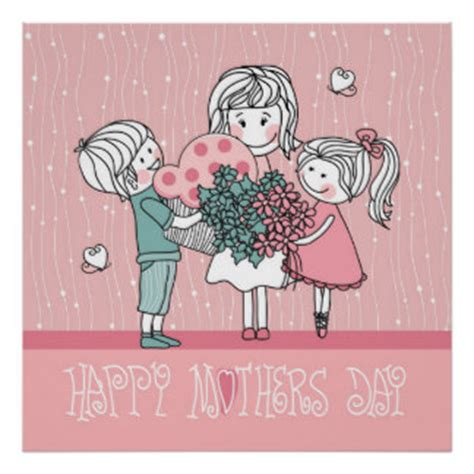 Mothers Day Poster Happy Mothers Day Posters Zazzle