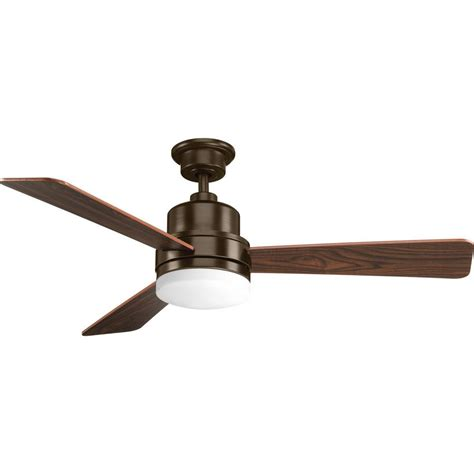 bronze ceiling fan progress lighting trevina collection antique bronze 52 in