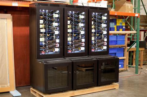 Dining Room Wine Racks - custom refrigerated wine cabinet contemporary wine cellar new york by signature wine cellars