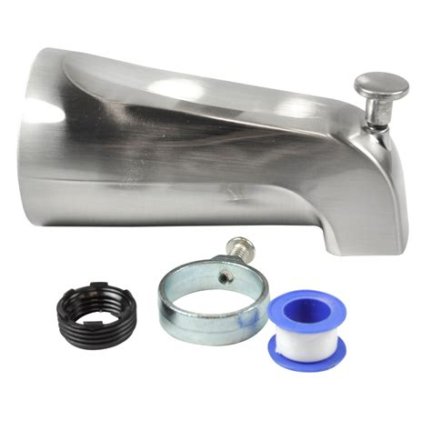bathtub fixtures parts tub spout with diverter in brushed nickel danco