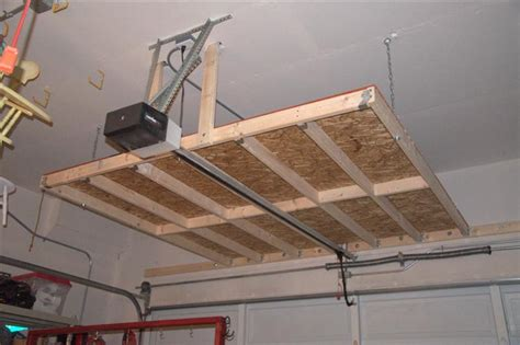 garage ceiling storage osb 2x4s and hardware garage