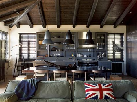 industrial home interior house that combines industrial and traditional style