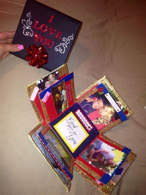 Exploding love box for boyfriend, glittery and fun and