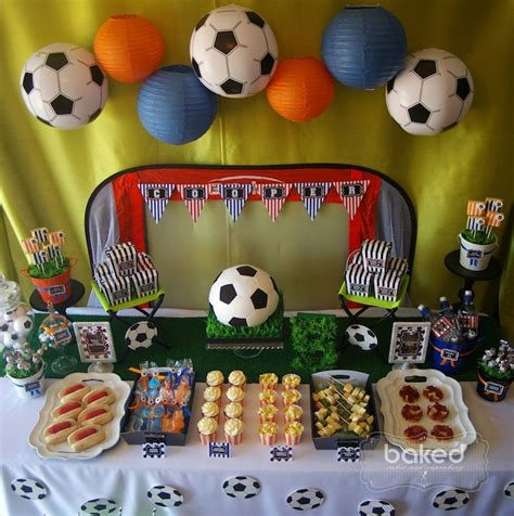 soccer theme decorations kara s ideas kickin soccer birthday planning