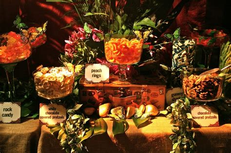 safari buffet tablescape catering displays