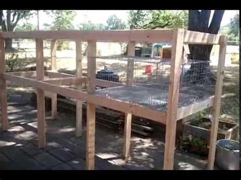 build  rabbit hutch completed frame youtube