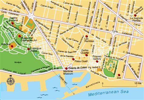 printable map barcelona city centre guia de barcelona barcelona travel guide montjuic