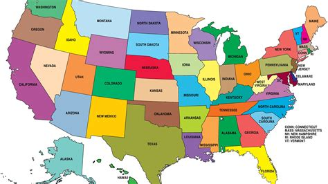 us map with states hd map of the united states hd 16 united states of america
