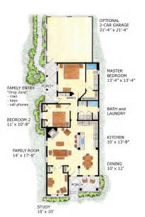 Floor Plans For Narrow Lots Farmhouse Plans Narrow Lot House Plans