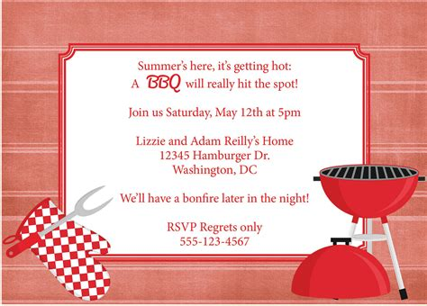 bbq invite template bbq invitation barbeque invite diy printable by