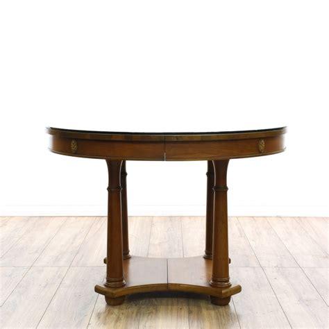 Black Dining Table With Leaf Black Pedestal Base Dining Table W Leaf Loveseat Vintage Furniture San Diego