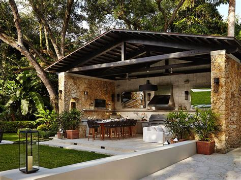 Covered Outdoor Kitchen Designs Coral Gables Florida Kalamazoo Outdoor Gourmet