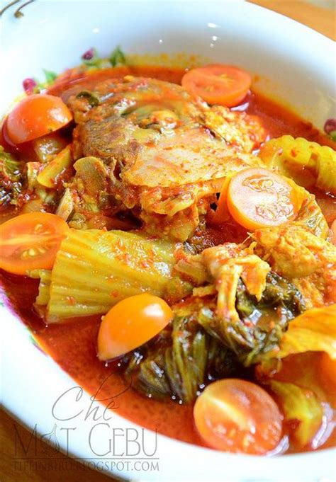 ikan asam pedas asam pedas kepala ikan food in malaysia pinterest