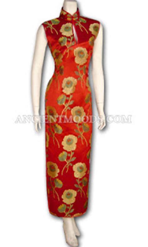 Cheongsam Qipao Motif Bunga warisan tradisional pakaian tradisional kaum cina