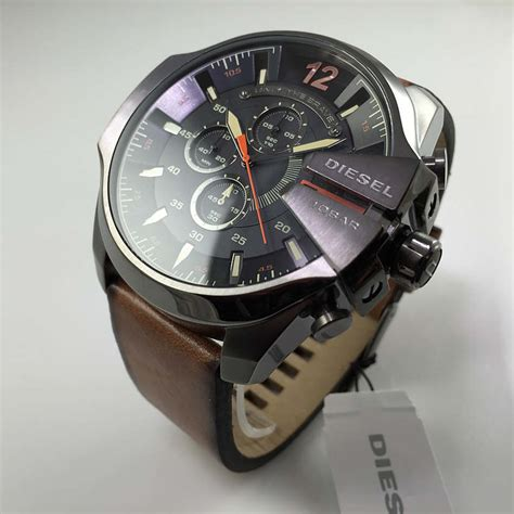 Diesel Gold Steel Leather s diesel mega chief chronograph leather dz4343